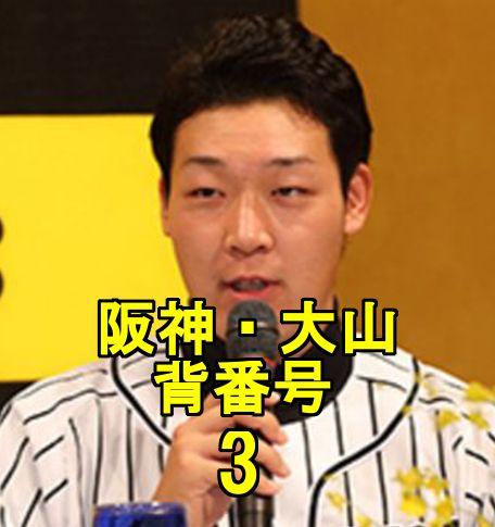 阪神・大山・背番号