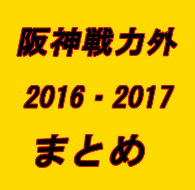 阪神戦力外2016・2017